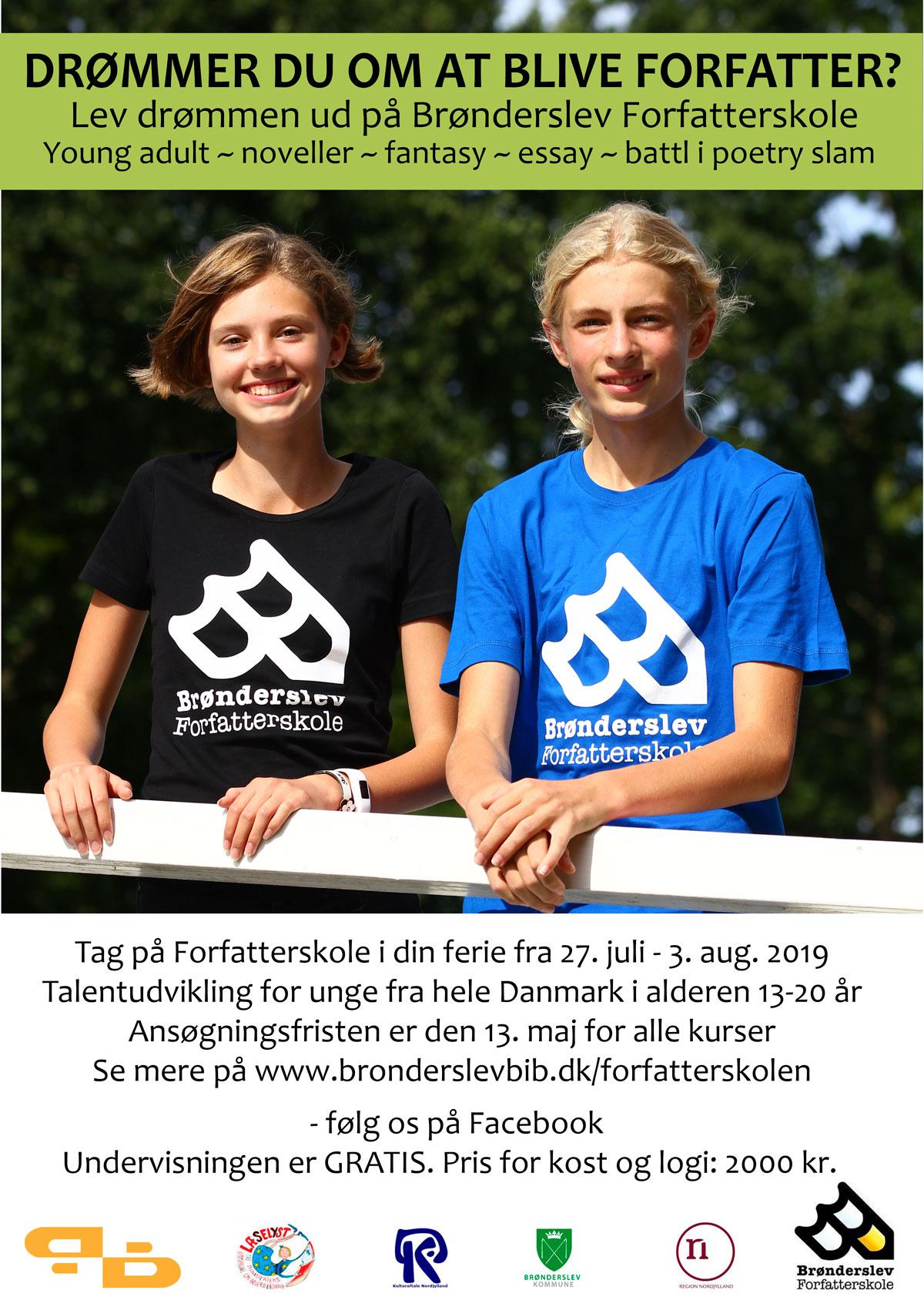 Brønderslev Forfatterskole 2019