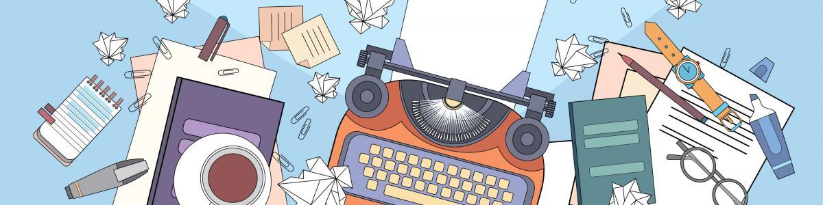 Skrivemaskine med mere