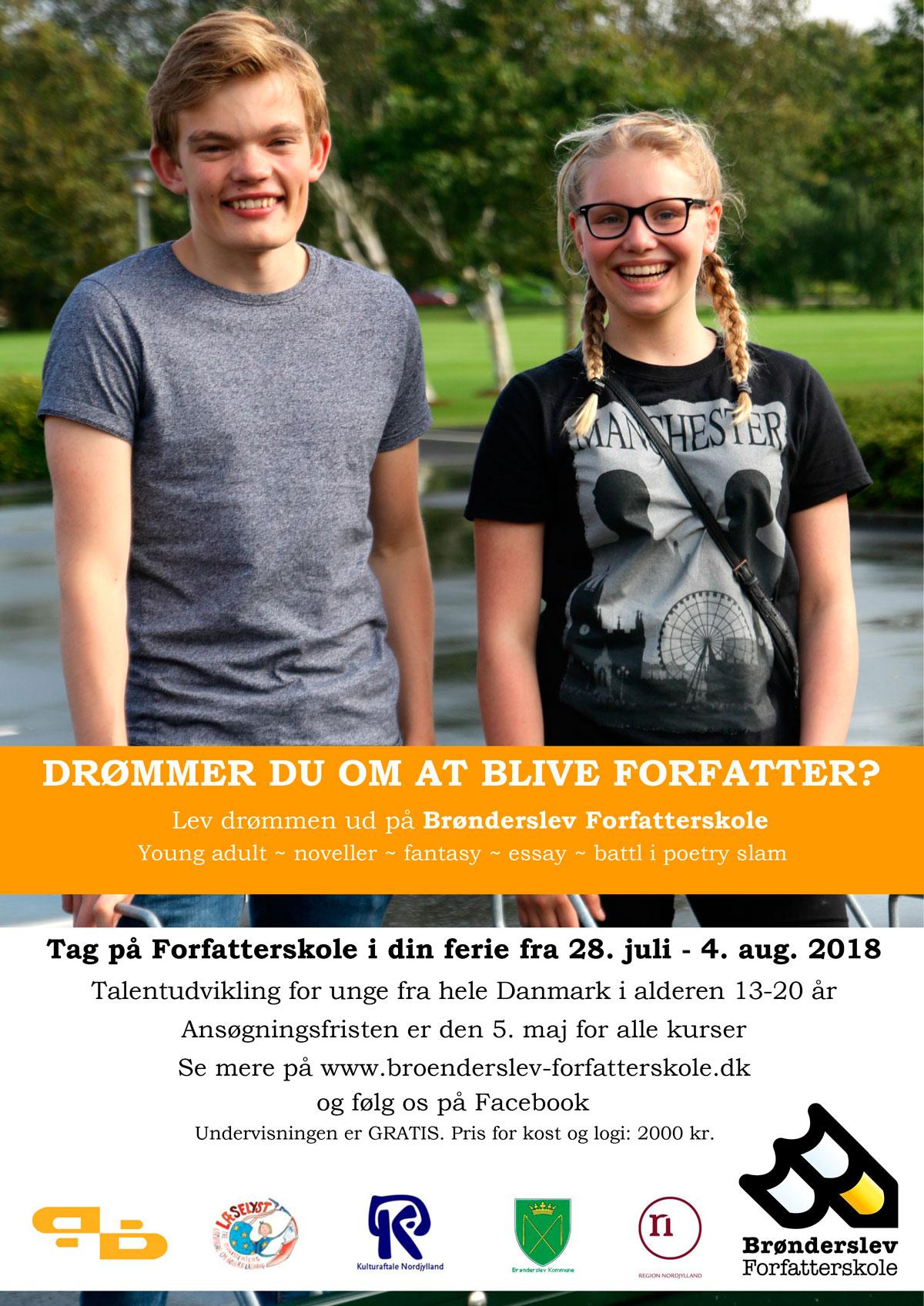 Brønderslev Forfatterskole 2018